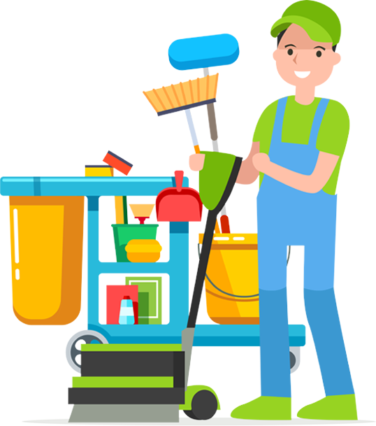 clipart of custodian worker