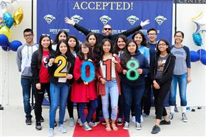 South El Monte High School seniors celebrate their post-secondary plans during an Acceptance Day ceremony on May 2.