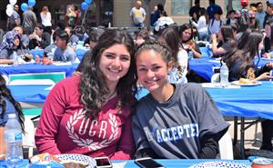 El Monte High School students sign a letter of intent to the college of their choice during a College Signing Day celebration