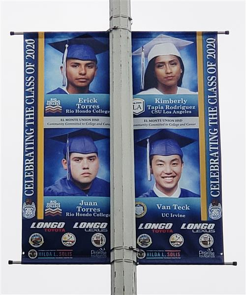 El Monte Community Bands Together to Support EMUHSD Class of 2020 with Graduation Banners