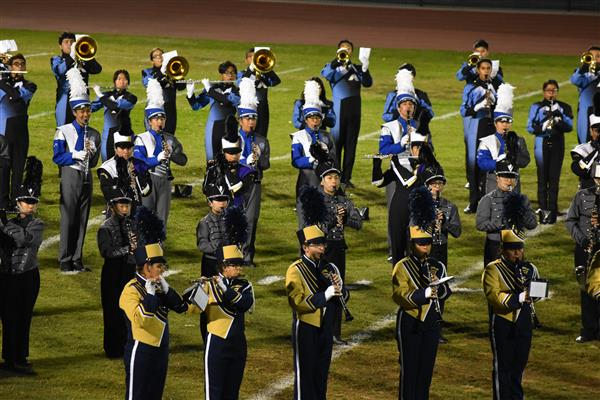 VIDEO: EMUHSD Bands and Colorguards Unite