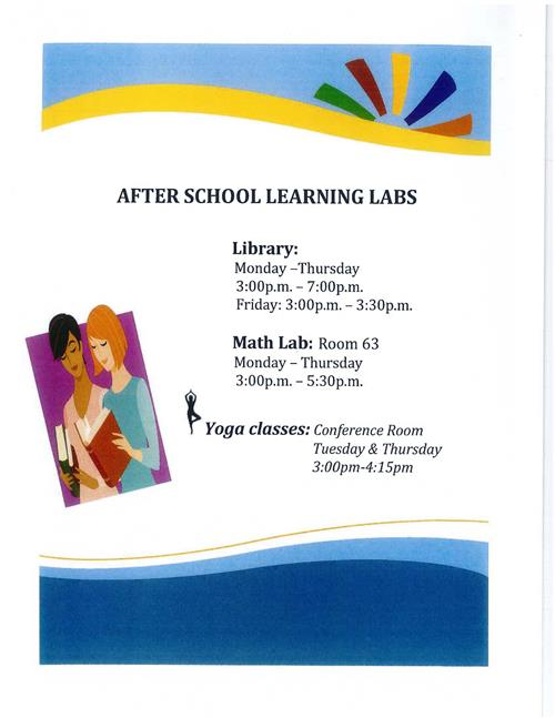 After School Learning Labs Schedule