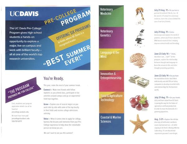 UC Davis  Pre-Collegiate Program