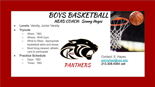RHS Boys Basketball